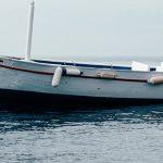Fischerboot auf der Elbe